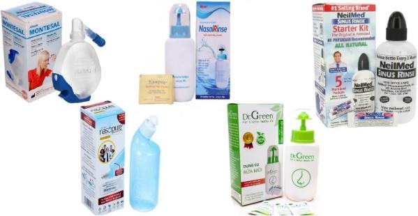 Lựa chọn bình rửa mũi nào thì tốt cho trẻ và người lớn???